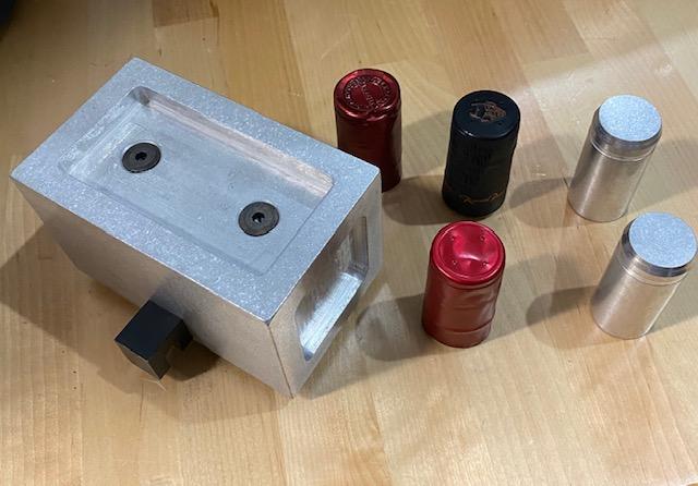 Rub Testing Adapter for bottle caps